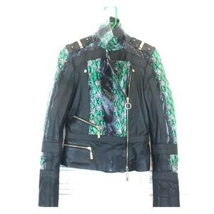  Just Cavalli Snakeskin Leather Jacket WOW 